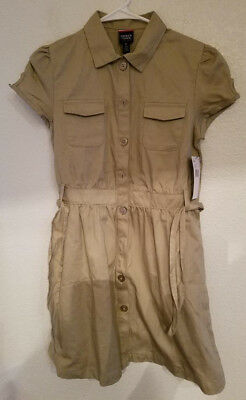 ca34815322c93 FRENCH TOAST BIG Girls' Twill Safari Shirtdress, Khaki, 14 - $10.00 ...