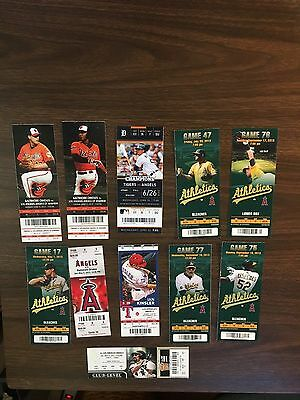 Mike Trout Full HomeRun (HR Homer) 2013 Full Season Ticket Stubs Angels MVP