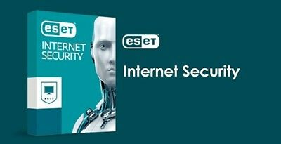 ESET NOD 32 Internet Security version 12 2019 License 3 PC 2 Years Win 7,8,10