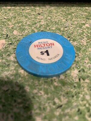 $1 HILTON Hotel Casino Poker Chip Vintage Antique House Mold Reno NV