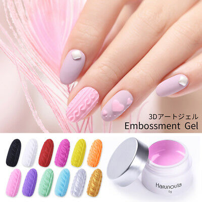 Harunouta 5g 3D Painting UV Gel Nail Polish Soak Off Nails Art Drawing Varnish