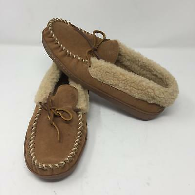 6857c7c60a7 Minnetonka Corey Trapper Faux Fur Lined Womens Slipper Sz 8 Moccasin Slip On