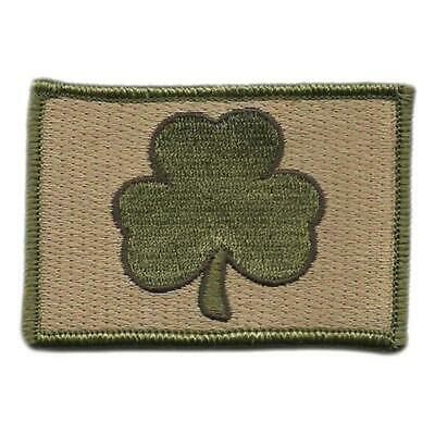 VELCRO® BRAND Hook Fastener Compatible Patch Morale Irish Clover Multitan 3x2""