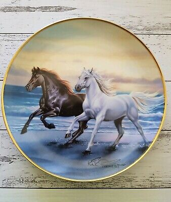Thunder At Sunset Horses Running Collector Plate Franklin Mint