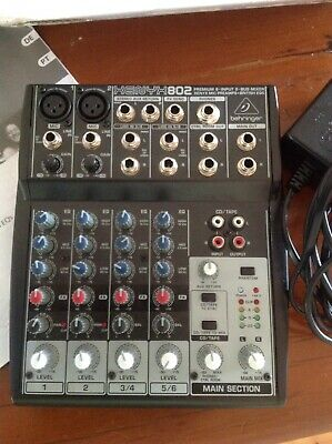 Behringer Xenyx 802 8 Channel PA Mixing Console in excellent condition