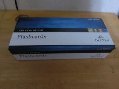 Becker CPA Exam Review Flash Cards. 2013 Edition. Full Set in box