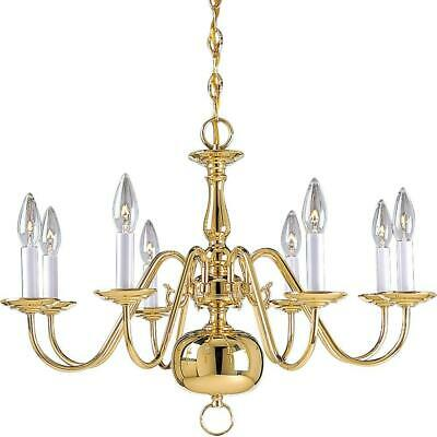 Progress Lighting P4357-10 Americana 8-Light Polished Brass Chandelier