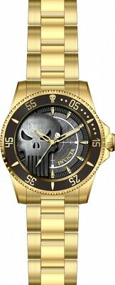 Invicta Men's 29694 'Marvel' Punisher Gold-Tone Stainless Steel Watch