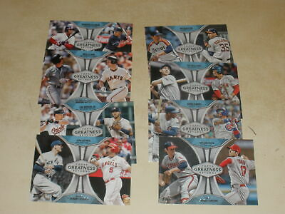 LOT OF (8) 2019 TOPPS SERIES 1 GREATNESS RETURNS INSERTS ALL DIFFERENT w/ STARS