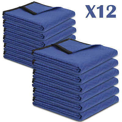 "Moving Blankets Set of 12  80"" x 72"" Performance Heavy Duty Professional"