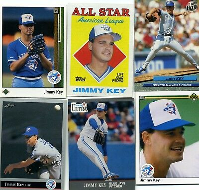 Jimmy Key Lot Of 25 20 Different Baseball Cards Toronto