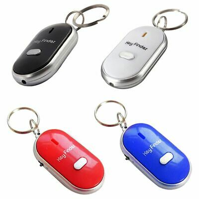 UK Whistle Lost Key Finder Flashing Beeping Locator Remote chain LED Sonic torch