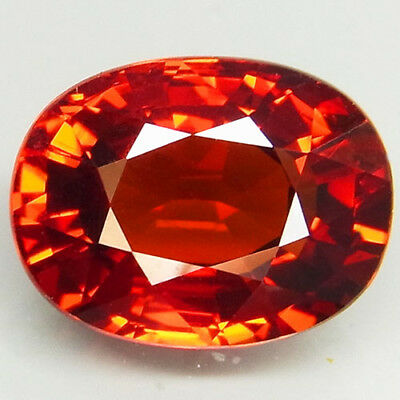 4.19ct.100%Natural Orange Mandarin Spessartite Garnet Unheated AAA Shinning Gem!