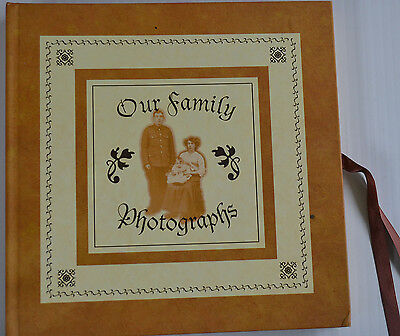 FAMILY PHOTOGRAPH ALBUM Vintage Style with Cutouts NEVER USED dated 1996