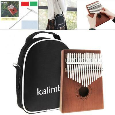 17 Key Kalimba Single Board Thumb Piano Set with Bag and Complete Accessories