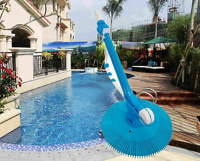 AUTOMATIC SWIMMING POOL Vacuum Cleaner & 10PCS Hose Set Suction Side ...