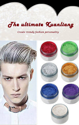 7 Colors Unisex DIY Hair Color Wax Mud Dye Cream Temporary Modeling Mofajang
