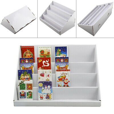 2x4 Tiers White Collapsibles Cardboard Greeting Card Display