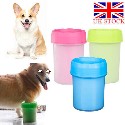 Portable Pet Paw Mudbuster Mud Cleaner Washer Dog Cat Pet Paw Plunger Cup UK