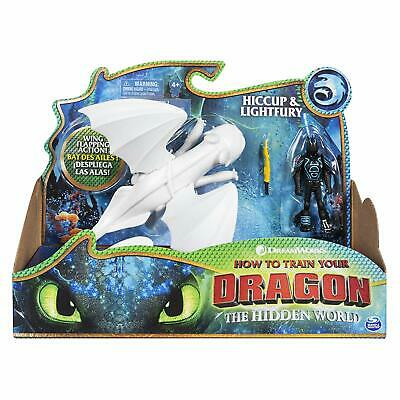 Dreamworks Dragons How To Train Your Dragon Hiccup & Lightfury Figure