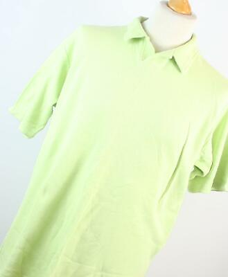 Marks & Spencer Mens Green Cotton Polo Shirt Size L