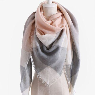 Winter Women Scarf Cashmere Scarf Women Plaid Blanket Scarf Scarves and Wraps UU