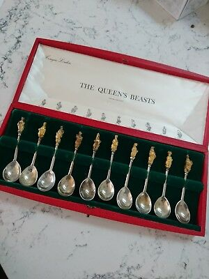 The Queens Beasts Sterling Silver Spoons