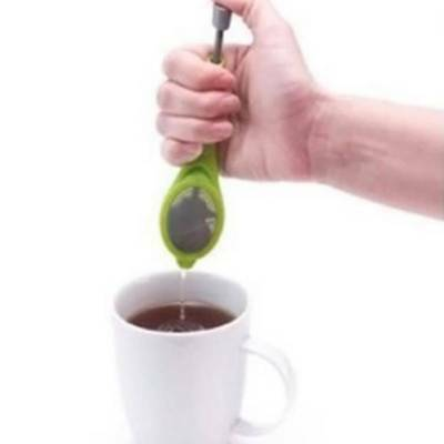 Reusable Tea Infuser Ball Pass Herbal Spice Filter Stir Strainer Spoon Teacup