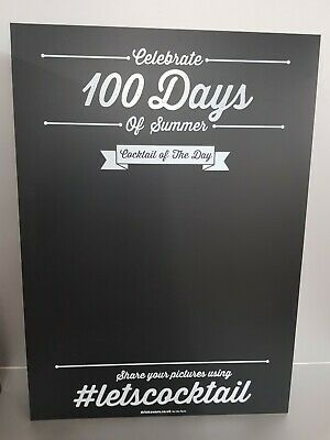 4 X Large Cocktail Wall Hanging Chalk Boards 60Cm Wide 84Cm Tall New