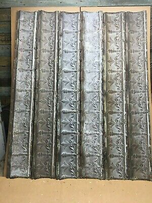 """6pc Lot of 48"""" by 6"""" Antique Ceiling Tin Vintage Reclaimed Salvage Art Craft"""