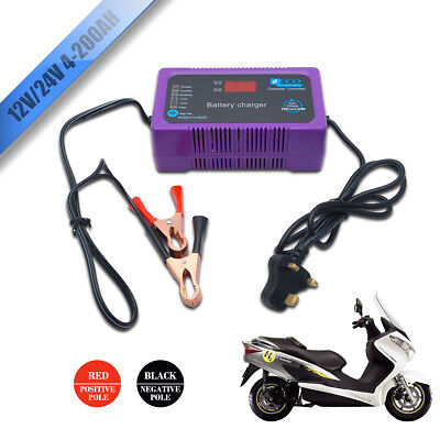 2/6A 12/24v Volt Portable Compact Vehicle Car Van Bike Automatic Battery Charger