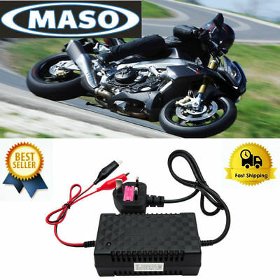 UK Intelligent 12V Motorcycle Motorbike Battery Charger Automatic Smart Trickle