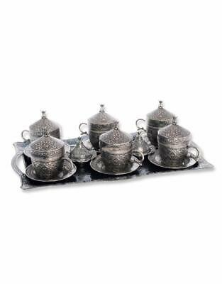 Trmade Traditional Decorated Antique Old Ottoman Turkish Greek Arabic Coffee Ser
