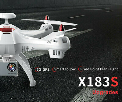 5G 1080P Wifi FPV HD Camera Dual GPS Drone LED Follow Me RC Quadcopter White