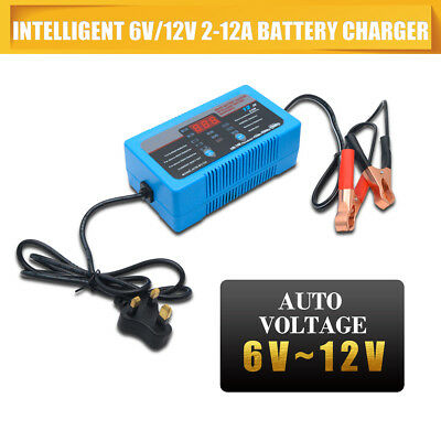 Intelligent 12V Motorcycle Motorbike Battery Charger Automatic Smart Trickle UK