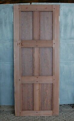A RECLAIMED PITCH PINE ARTS AND CRAFTS INTERNAL DOOR H1863mm W758mm Ref DI0671