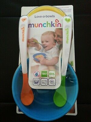 Munchkin Love-a-Bowls Baby Feeding Bowls With Lids