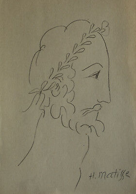 Interesting Fauvist pencil drawing - study, Marked, signed, Henri Matisse