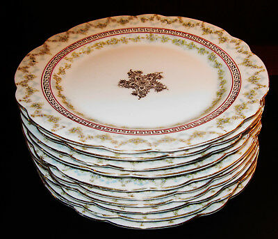 """Lot Of 10 Lovely Imperial China Austria Bread & Butter Plates 6 1/4"""" Perfect!!"""