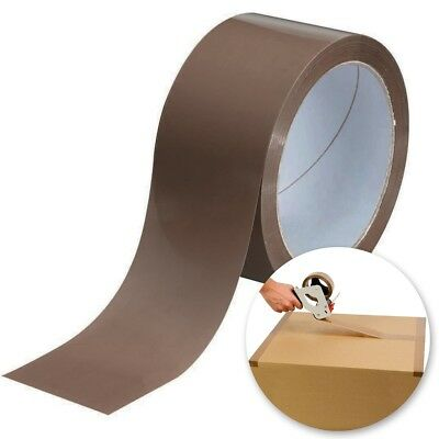 EXTRA LONG BROWN PACKING TAPE Parcels Boxes Cartons Sealing Secure Package Rolls