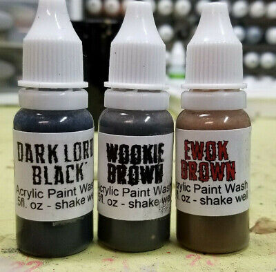 Acrylic paint wash set #1 for use with custom painted action figures