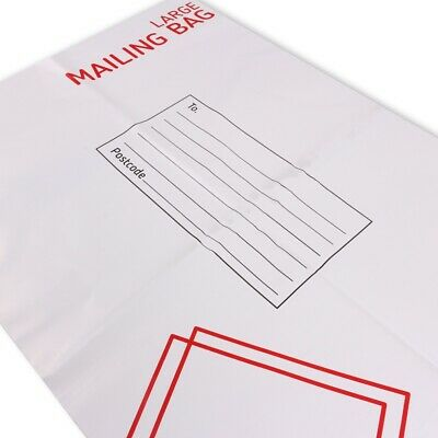 LARGE SELF SEALING MAIL BAGS 33cm x 44cm Strong Water Resistant Plastic Postage