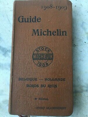 Guide Michelin 1908-1909 Belgique hollande bords du rhin