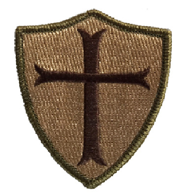 "BuckUp Tactical Morale Patch Hook Crusader Sheild Templar MULTITAN 3"" Sized"