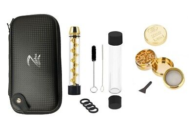 Z-Twist Glass Blunt and Grinder Set