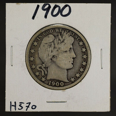 1900 50c SILVER BARBER HALF DOLLAR LOT#H570