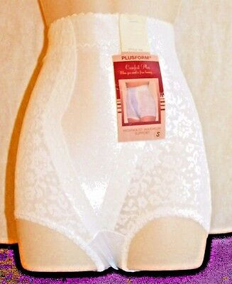 009537905 Plusform Highwaist Max Support Girdle Lace Beige Size 3X Made In Usa Style  450