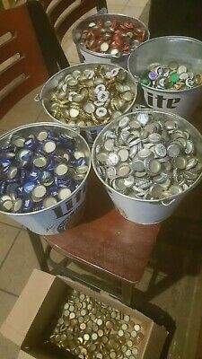 250 Assorted Colored Bottle Caps, Various Brands, DIY, No Dents, Clean