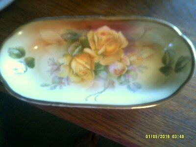 ES Prussia Yellow Roses Dish