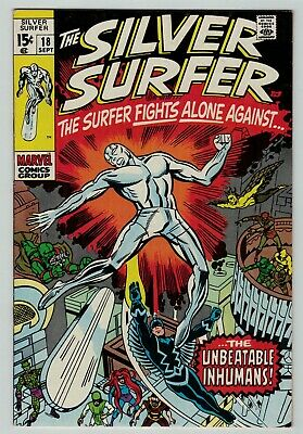 Silver Surfer 18 Inhumans Stan Lee Kirby classic Silver Age 1970 sharp FN+ Fine+